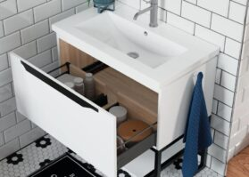 sink with pull out draw